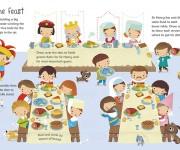 USBORNE -Castle wipe Clean -feast -Dania Florino