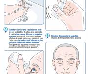 illustrazioni vettoriali per opuscolo sul glaucoma.