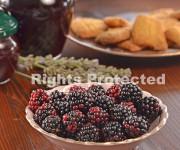 The blackberries.