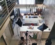 Set cucina per web series nello studio Color