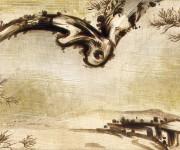 Paesaggio da sotto il ramo