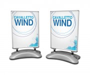 espositore a cavalletto wind