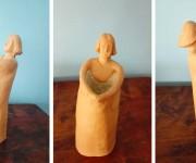Caraffa antropomorfa seconda di due (diverse tra loro) - terracotta e smalto