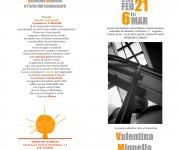brochure Valentina Minnella, per mostra collettiva al femminile 2015-Legnano
