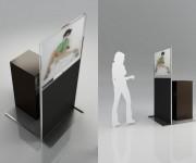 rendering 3d - totem digital signage - milano