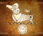 Steampunk Clockwork Dachshund