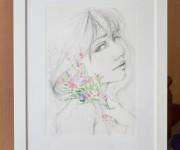 Ritratto con fiori