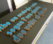 Lettere in cartone e PVC effetto 3D
