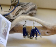 Orecchini spille da balia blu / viola