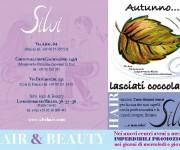 SILVI PARRUCCHIERE CENTRO ESTETICO:flyer promozionale fronte-art e copy