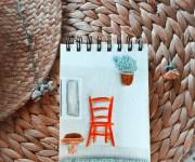 Una sedia, rossa