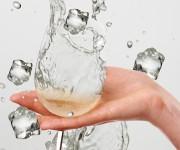 bicchiere con ghiaccio