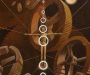 RISVEGLIO - acrlico su legno  100 x 120 - anno 2003