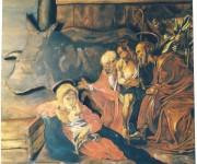 ADORAZIONE DEI PASTORI. Liberamente tratto da Caravaggio