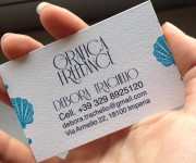 Personal business card for wedding design - Retro