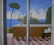 armadio a muro decorazione a trompe l'oeil