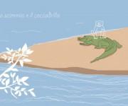 La scimmia e il coccodrillo - illustrazione per un racconto di Gianni Bauce