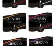 design grafico linea etichette vino