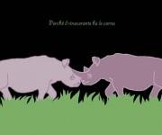 Perché il rinoceronte ha le corna - illustrazione per un racconto di Gianni Bauce