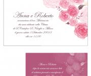 invito matrimonio rose