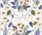carta decoupage con fiori