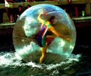 water ball portrait