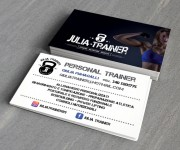 Personal trainer Giulia Fumagalli front and back business card