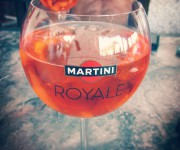 Aperol Sprit & martini Royale