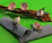 Segnaposto paper flowers  eco wedding ideas