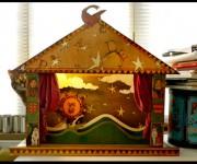 Teatrino in legno dipinto a mano e pirografatp