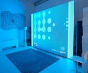 Ledwall per evento aziendale con quiz nello spazio Light