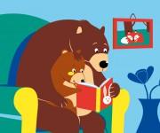 Teddy legge una storia con il babbo