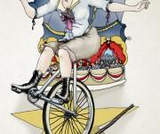 Circus donna trapezista