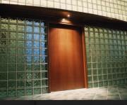 la parete in vetrocemento della casa del medico - Napoli