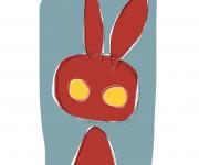coniglio rosso - ideAZIONIvettoriali