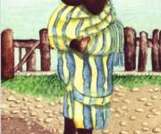 Segnalibro - Donna con bimbo e cono