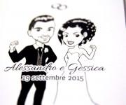 Alessandro & Gessica - Caricatura