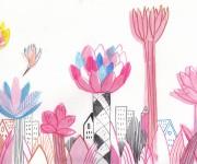 Illustrazione per Foresta in Città - retro copertina