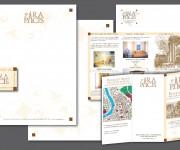 ARA PACIS BED & BREAKFAST ROMA: Marchio, immagine coordinata, flyer 3 ante