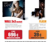 Promozione stand portatile Wall e roll-up Flash