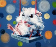 Mice love swinging