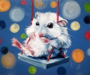 Mice love swinging