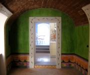 la sala da pranzo in stile cretese