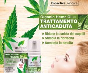 Cartello Vetrina per Dr. Organic Hemp Oil trattamento capelli