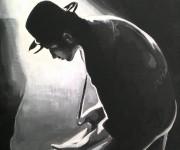 pittura acrilica ad acqua su tela (particolare)