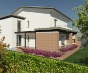 Ristrutturazione di una casa anni '60 con ampliamento e un nuovo portico sul giardino a sud