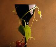 bicchiere e uva