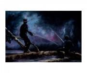 Pesca notturna - stampa su carta