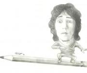 Autocaricatura a matita