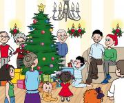 illustrazione libro di Natale personalizzabile editore MYBOO